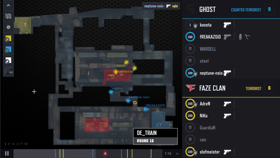 FaZe vs Ghost | Map Tactics