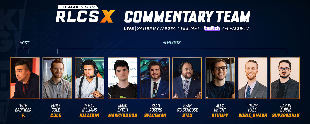 RLCS X commentary team